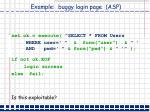 example buggy login page asp