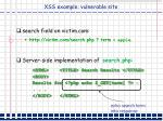 xss example vulnerable site