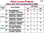 select access projects choice order cio 1 presentations rx build