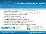 give an hour demonstration project
