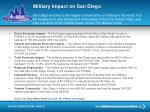 military impact on san diego