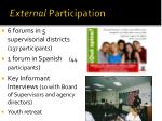 external participation