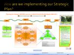 how are we implementing our strategic plan