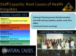 staff capacity root causes of health inequities
