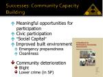 successes community capacity building