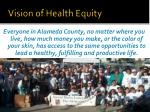 vision of health equity