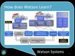 how does watson learn