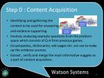 step 0 content acquisition