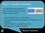 step 1 question analysis