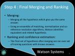 step 4 final merging and ranking
