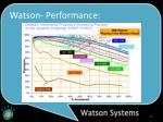 watson performance