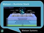 watson runtime stack