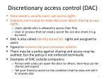 discretionary access control dac