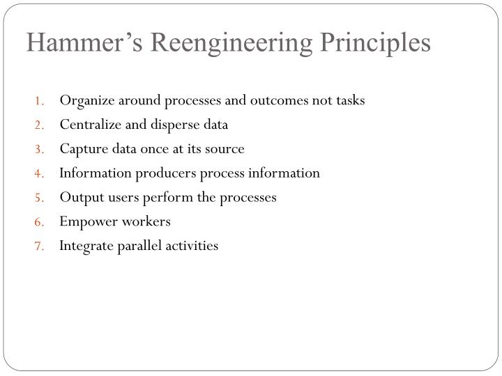 Hammer's Reengineering Principles
