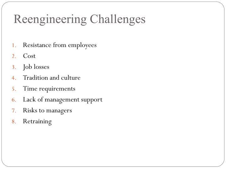 Reengineering Challenges