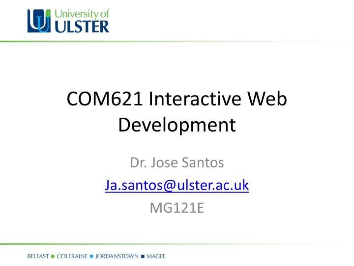 com621 interactive web development n.