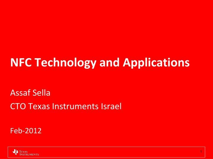 nfc technology and applications n.