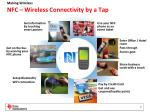 nfc wireless connectivity by a tap