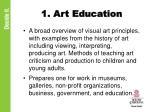 1 art education