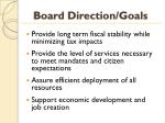 board direction goals