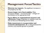 management focus tactics