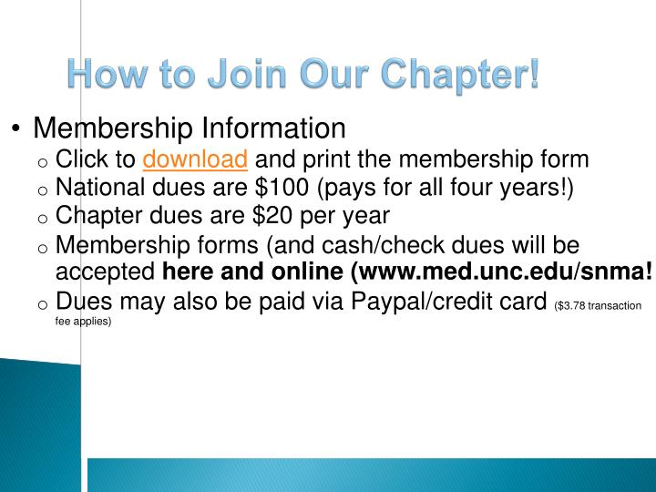 How to Join Our Chapter!