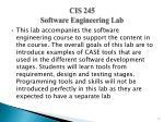 cis 245 software engineering lab