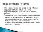 requirements pyramid