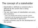 the concept of a stakeholder