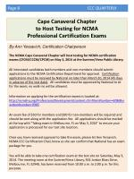 cape canaveral chapter to host testing for ncma professional certification exams