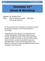 december 11 th dinner workshop
