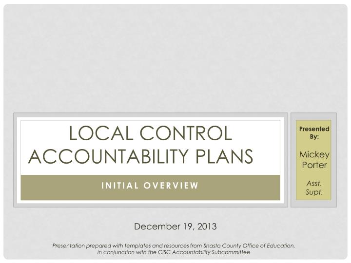 local control accountability plans n.