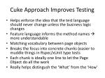 cuke approach improves testing