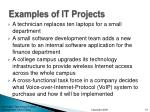 examples of it projects