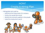 how create a hiring plan