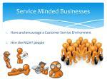 service minded businesses