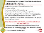 commonwealth of massachusetts standard administrative forms