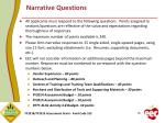 narrative questions