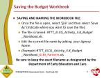saving the budget workbook1