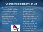 unpredictable benefits of gis1
