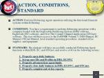 action conditions standard