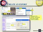 create an export