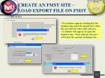 create an fmst site load export file on fmst3