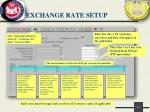 exchange rate setup
