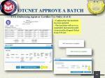 otcnet approve a batch3