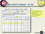security forms sf 702