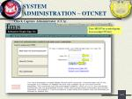 system administration otcnet