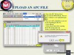 upload an apc file