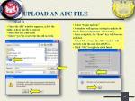 upload an apc file1