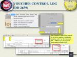 voucher control log dd 2659